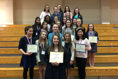 Middle School Girls Advance to State Science Fair