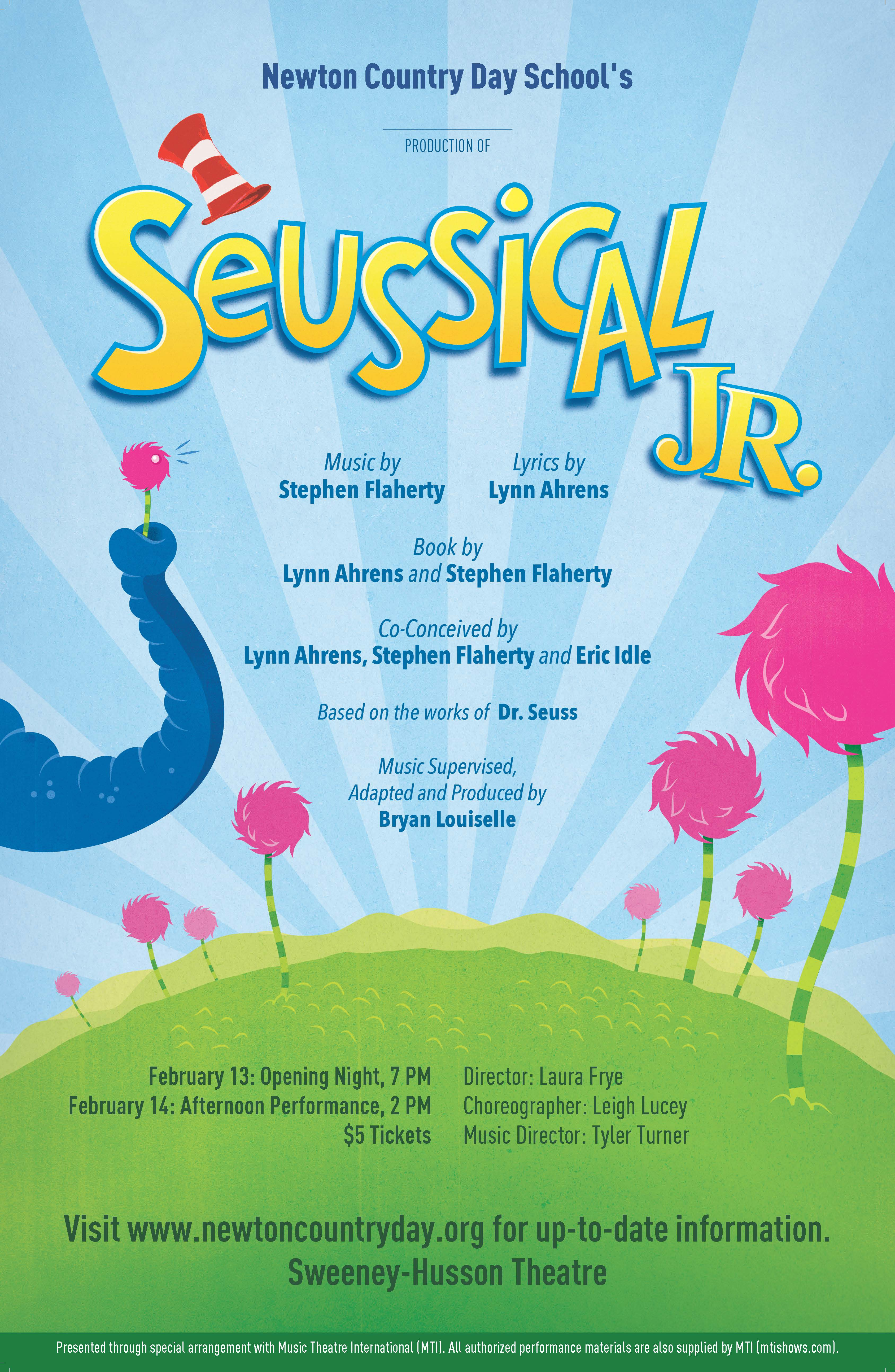 The Middle School Presents Seussical, Jr. February 13 & 14