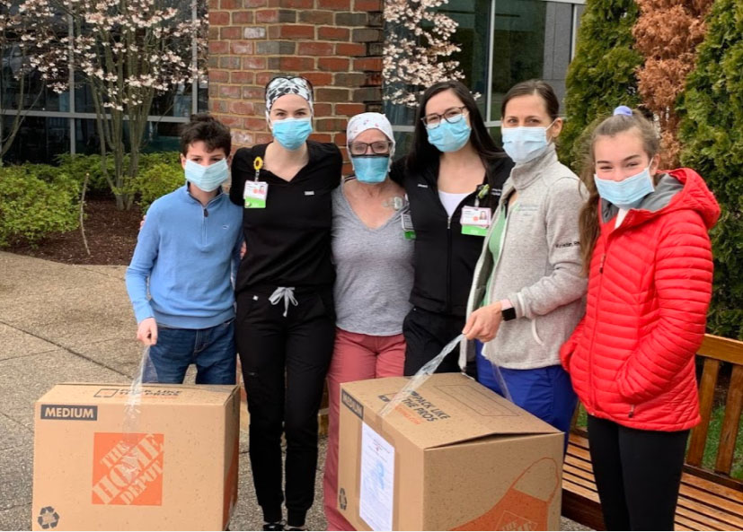 Middle School Girls Make, Donate Face Shields
