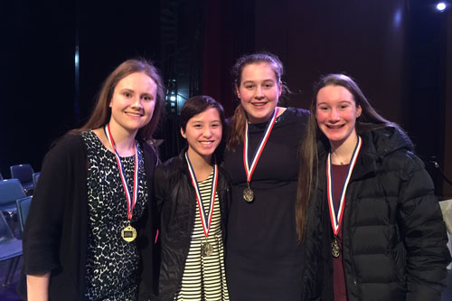 Upper School Girls Awarded Top Prizes, Make NCDS History at Regional Science Fair